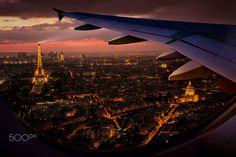 Paris from above - Paris France,Digital art!