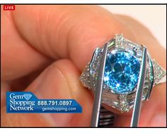 Another mount for that beautiful blue zircon for sale at Gem Shopping Network
