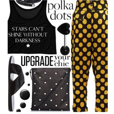 So Dotty: Polka Dots by maranella on Polyvore featuring Duro Olowu, Ancient Greek Sandals, The Row, Topshop and PolkaDots