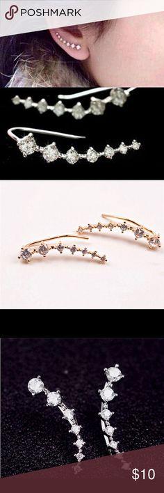 ‼️ NEW ‼️ Trendy Ear Row Earrings ROW IN EARRINGS PINK Victoria's Secret Jewelry Earrings