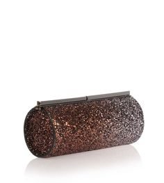 Bronze and grey degrade course glitter clutch from Jimmy Choo. The Trinket has a gunmetal clasp closure, logo-engraved detailing, and satin lining.Made in ItalyMeasurements: L20 x H9 x W7 cm