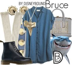 Fish are friends, not food! Casual Bruce outfit from Finding Nemo | Disney Fashion | Disney Fashion Outfits | Disney Outfits | Disney Outfits Ideas | Disneybound Outfits |