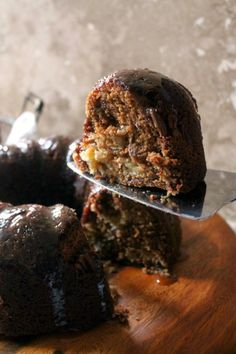 Honey Apple Bundt Cake with Honey Caramel Sauce - The Kitchen Prep Blog