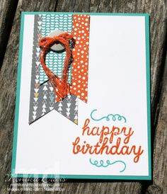 Alternate card using the May Paper Pumpkin stamp set and twine. #stampinup #paperpumpkin #stampingatmonikas