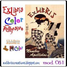 """#EXlibrisColor #Kuniyoshi Referencia C61 Ukiyo-e """"pinturas del mundo flotante"""" o estampa japonesa, género de grabados producidos en Japón entre los siglos XVII y XX. ¡Diseño disponible en sello de caucho! (w102)   #EXLibris Creativos Color es la manera más original y divertida de personalizar tus #libros y #comics!!  ¡¡Visita nuestra web http://exlibriscreativos.es y déjate sorprender!! #ComparteCultura #RegalaEXlibris #RegaloPersonalizado #bookplates #Stamp #DiseñoGrafico #GraphicDesign…"""