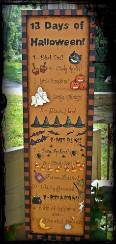 E PATTERN 13 Days of Halloween So Fun NEW Designed by por skb007