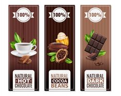 Banners verticales de productos de cacao... | Free Vector #Freepik #freevector Chocolate Cacao, Business Flyer, Flyer Design, Packaging Design, Cocoa, Banners, Fruit, Vector Freepik, Projects