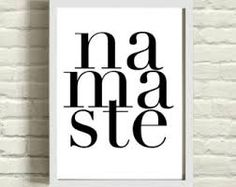 Namaste Yoga Quote Typography Art Print c o l o r I am happy to custom color this design tailored to your color preference. Please leave a Namaste Art, Namaste Yoga, Yoga Meditation, Yoga Quotes, Art Quotes, Yoga Kunst, Yoga Art, Yoga For Kids, Typography Quotes