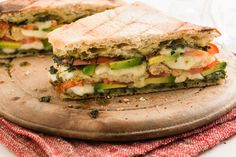 Filling and yummy, this Tomato and Avocado Panini with Mozzarella and Pesto will give your child the energy to smash out the afternoon with gusto!