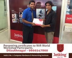 Happy Evening!!! Presenting certificates to Wifi World Workshop Participants.