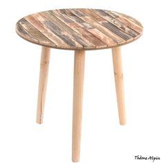 """Osez cette table auxiliaire thème """"Alpin""""de chez Kotécaz... Decoration, Stool, Number 3, Furniture, Home Decor, Round Side Table, Boards, Mesas, Wood"""