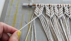 mini-macrame-wall-hanging - DIY | Parlor Diary                                                                                                                                                                                 More