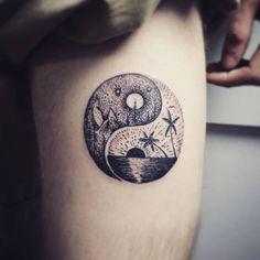 yinyang  tattoo Tattoo Designs, Skull, Dragon, Tattoos, Tatuajes, Tattoo, Dragons, Tattooed Guys, Tattoo Patterns