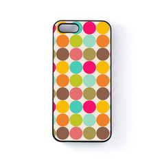 cute-colorful-large-polka-dot-pattern-on-light-beige-black-hard-plastic-case-for-iphone-5-5s-by-ultracases-119562-p.jpg (1010×1010)