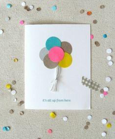 Balloon Card By Katyuwong Cute Birthday Cards Diy Gifts