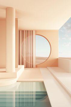 Ästhetisches Design, Deco Design, 3d Interior Design, Design Case, Visual Elements Of Art, Aesthetic Space, 3d Architecture, Aesthetic Wallpapers, Interior And Exterior