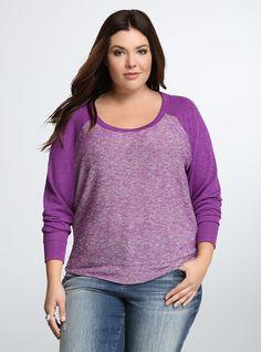 Drop Shoulder Raglan Sweater   Torrid