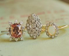 These vintage rings are timelessly beautiful.
