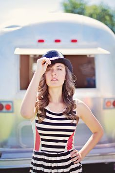 My senior pictures by an airstream; photos by Bellanca Boettcher Swedish Girls, Crafts For Girls, Airstream, Photo Shoots, Senior Pictures, The Creator, Twins, Crafty, Couture