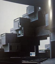 Moshe Safdie, fragment Habitatu, propozycji osiedla mieszkaniowego, wzniesionego na Expo '67 w Montrealu