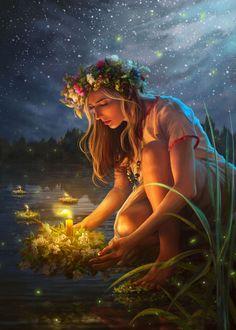 Fantasy Art Women, Beautiful Fantasy Art, Witch Characters, Fantasy Characters, Ukrainian Art, Fairy Art, Belle Photo, Creative Photography, Female Art