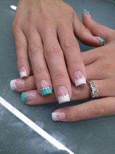 Tiffany blue BRIDAL NAILS