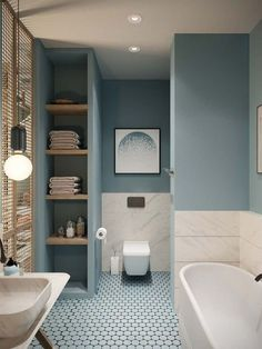 Modifying Your House with These Great House Interior Colors www.goodnewsarchi… Modifying Your House with These Great House Interior Colors www. Bathroom Design Small, Modern Bathroom, Design Your Home, Apartment Interior, Interior Livingroom, Home Decor Accessories, Cheap Home Decor, Colorful Interiors, Home Remodeling