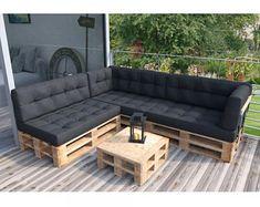 Diy Garden Furniture, Diy Outdoor Furniture, Diy Pallet Furniture, Diy Pallet Projects, Pallet Ideas, Diy Pallet Couch, Furniture Ideas, Furniture Chairs, Furniture Storage