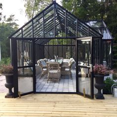 Glass Cabin, Glass House, Modern Landscaping, Backyard Landscaping, Outdoor Rooms, Outdoor Decor, Backyard Greenhouse, Pool Houses, Future House