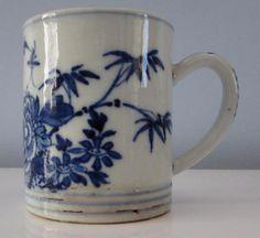 C18th CHINESE KANGXI ANTIQUE BLUE &WHITE COFFEE CAN CIRCA 1720  £34