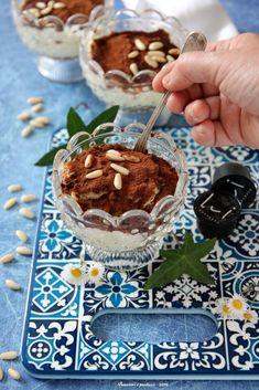 Coppe di crema e caffè d'orzo - Pensieri e pasticci Ricotta, Sweets, Breakfast, Desserts, Food, Tinkerbell, Cream, Morning Coffee, Tailgate Desserts