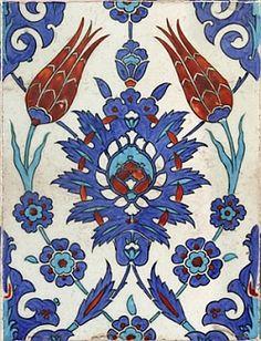 Iznik tile, C., Mosque of Rustem Pasha, Istanbul Turkish Tiles, Turkish Art, Portuguese Tiles, Islamic Tiles, Islamic Art, Islamic Patterns, Textile Patterns, Textiles, Tile Art