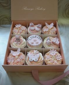 New Baby Girl Cupcake Gift Box