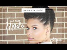 Natural Hair | Flat Twist Updo - YouTube