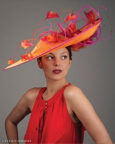 I could see my mom wearing this to my wedding someday! Vivien Sheriff Millinery - Hats and Headpieces, Bridal Hats and Headpieces, Hats for the Races, Hat Hire Millinery Hats, Fascinator Hats, Fascinators, Headpieces, Sinamay Hats, Ascot Hats, Women's Hats, Cloche Hats, Knit Hats