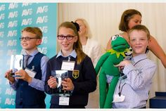 Misiu (right) was among nine deaf children of all ages from across the UK speaking at the event that showcased the fantastic communication skills of children who have learnt to listen and speak with specialists at the charity.