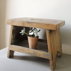Vintage Wooden Step Stool by lovintagefinds on Etsy