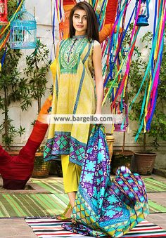 WL9150 Summer Collection Lawn Fabric Khaadi Lawn Eid Collection 2015 - UK USA Canada Australia Saudi Arabia Bahrain Kuwait Norway Sweden New Zealand Austria Switzerland Germany Denmark France Ireland Mauritius and Netherlands