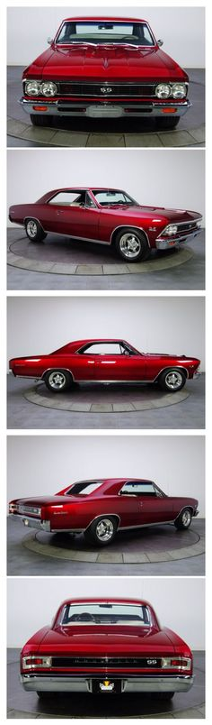 1966 Chevrolet Chevelle SS in Candy Apple Red, a personal fave of mine. Chevy Chevelle Ss, Chevrolet Impala, Chevy Ss, Chevy Pickups, Camaro Ss, Chevrolet Bel Air, 1957 Chevy Bel Air, Muscle Cars Vintage, Muscle Cars
