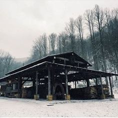 Love this shot of the snow covered wood kiln at from the good people of ❄️ by Wood Kiln, Blue Ridge Mountains, Contemporary Ceramics, Asheville, Home Goods, Pottery, Snow, People, Ceramica