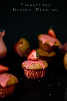 Strawberry Glazed Muffins