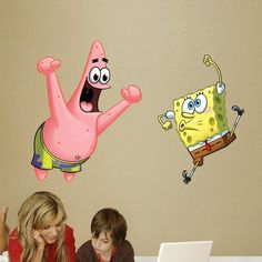 Fathead SpongeBob Patrick Out Of Water Decals Wall Sticker - Spongebob decals wall
