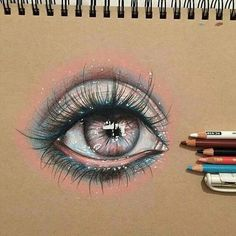 Eye drawing ideas sketches colored pencils Ideas for 2019 Amazing Drawings, Cool Drawings, Beautiful Drawings, Beautiful Eyes, Realistic Eye Drawing, Color Pencil Art, Eye Art, Art Techniques, Art Tutorials