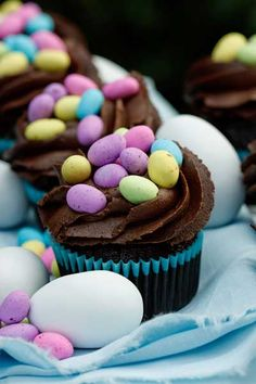 Easter Nest Cupcakes | Crush Magazine Online