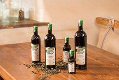 Steirisches Kürbiskernöl g.g.A. Wine, Drinks, Bottle, Food, Farm Shop, Vinegar, Casserole, Recipe, Drinking