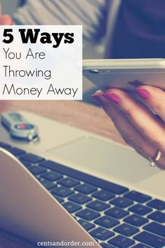 Are you throwing money away every month? Stop wasting money on these five things. Help your budget by making small changes that will save you money.