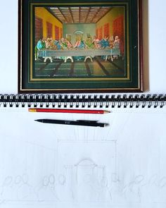 The last supper on Last Supper, A3, Painting, Painting Art, Paintings, Painted Canvas