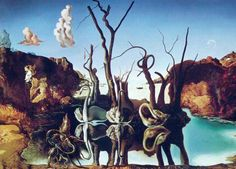 Salvador Dali - Swans Reflecting Elephants, 1937. My favorite Dali.