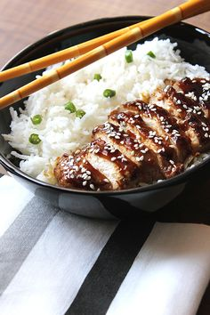 Chicken Teriyaki: Ingredients ― chicken breasts; brown sugar; oil; fresh ginger; soy sauce; oyster sauce; hot water; corn starch; sesame seeds; steamed rice. Instructions ― Combine water, soy sauce, sugar, oyster sauce, and ginger. Heat oil; sear chicken breasts; remove excess oil from the pan; add the sauce; simmer; add the cornstarch mixture and stir quickly; turn off heat. Slice chicken; serve over rice, sprinkle sesame seeds on top. #Chicken_Teriyaki