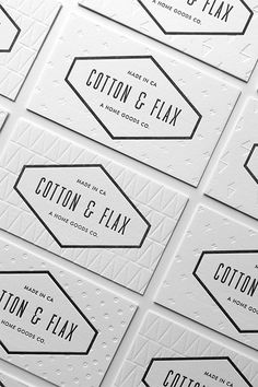 13 Insanely Cool Business Cards #refinery29 http://www.refinery29.com/unique-business-cards#slide2 Black and white never looked so cool. Featuring three different subtle patterns, Cotton & Flax's cards are the epitome of understated chic. For the top-notch results, the home-goods shop enlisted the help of design and paper company Lulu Dee.